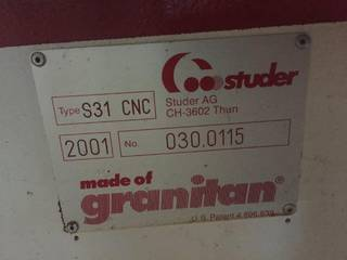 Köszörűgép Studer S 31 universal full +B axis + C axis rebuilt-5