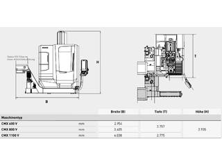 Marógép DMG MORI ecoMill 1100 V, Gyárt. é.  2015-6