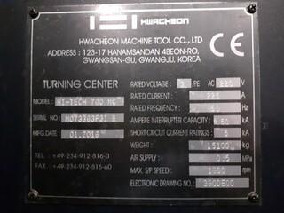 Esztergagép Hwacheon Hi Tech 700 MC-8