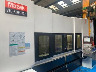 Marógép Mazak VTC 800 / 30 SR, Gyárt. é.  2008-5