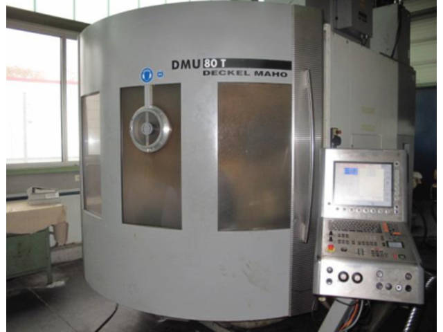 További képek Marógép DMG DMU 80 T Turbinenschaufeln/fanblades, Gyárt. é.  2005